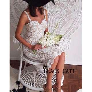 實拍✨歐美曲線✨立體雕花鏤空蕾絲✨晚宴婚宴晚會聚餐禮服洋裝✨
