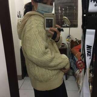 日本購入米色毛線外套