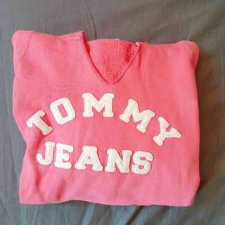 👗[二手] Tommy Jeans 美式粉紅連帽T👗