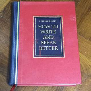 Reader's Digest How to Write and Speak Better (Hard Cover)