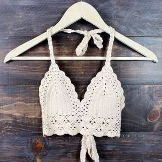 "The ""Cali"" in white crochet halter top"