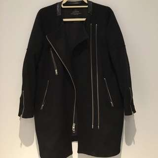 ALL SAINTS Black Wool Coat (US 8)
