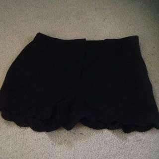 Plain Black Shorts Temt