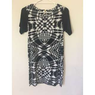 Black And White Sportsgirl Shift Dress