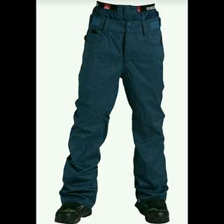 Celana gunung/ celana hiking celana panjang original quiksilver snow pant high line SHL waterproof-Deep Blue Indigo