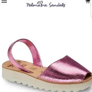 Palmaira Sandals Metallic Candy Flatform Sz 39 BNWT