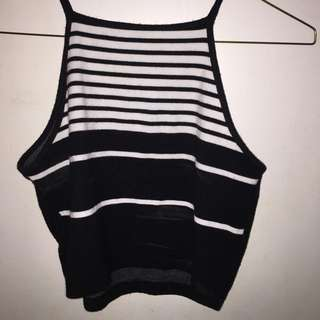 Forever 21 Black&White Crop Top