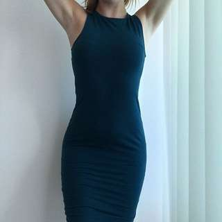 Tight Fitted Bodycon Knee Length Dress