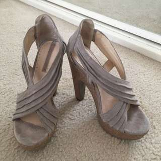 Real Leather Shoes Size 5 EUR 35