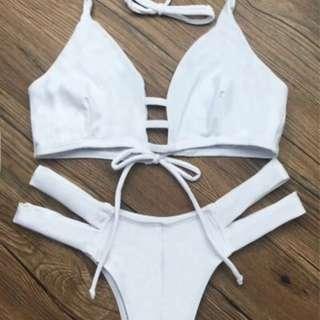 White Bikini Top And Botron