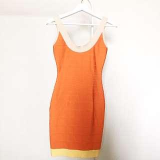 Herve Leger Bodycon Dress Colourblock [Rare]