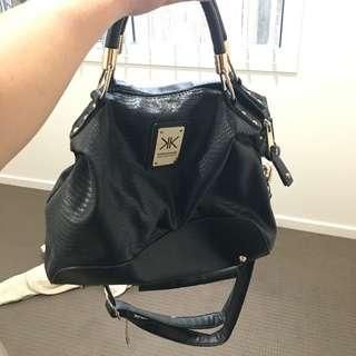 Kardashian Kollection Black And Gold Bag