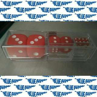 Dice 6-sided Set w/ Case (6 assorted dice size)🎲🇯🇵