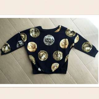 Black Gold Coin Sweater