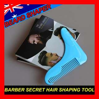 Beard Shaper Guide Shaving Trimming Template styling shaping tool comb Barber Secret Tony Stark Style