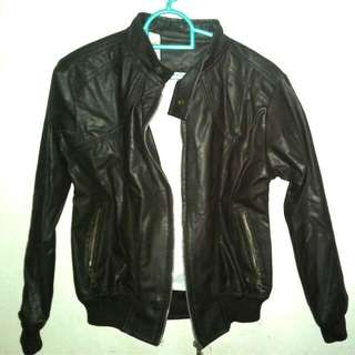 Jaket Leather Coklat