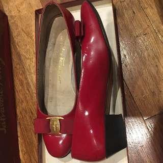 Authentic Salvotore Ferragamo Varina Heels