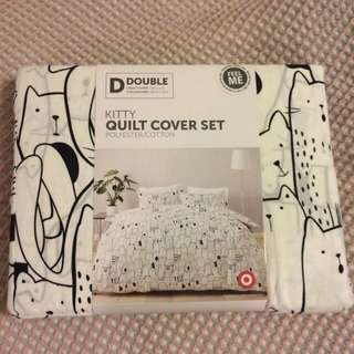 Kitty Double Quilt Cover Set