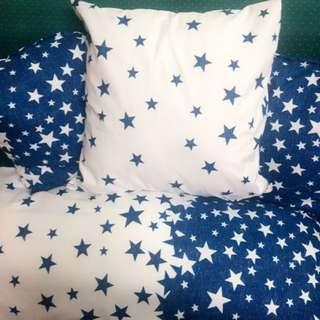pillow set 3 pcs sofa pillow and 1 bed pillow