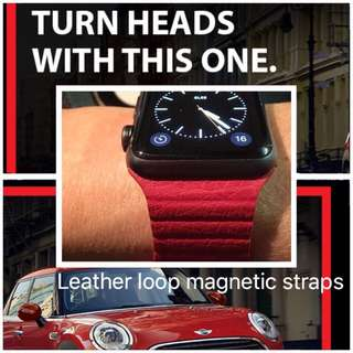 Apple Watch Straps Leather Loop Magnetic