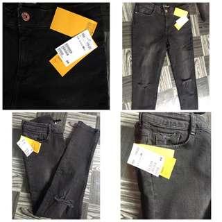 H&M Black Ripped Jeans