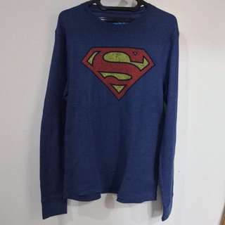 Superman Navy Over-sized Sweater