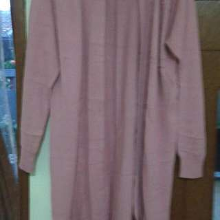 Cardigan Dusty Pink Panjang