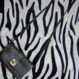 Black Leather Sling Bag