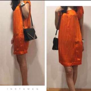 降!Ck✨超美特殊剪裁緞面洋裝