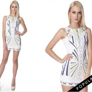 Tracyeinny Dean Abstract Bodycon Dress