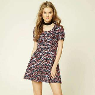 Forever21 Abstract Floral Print Dress