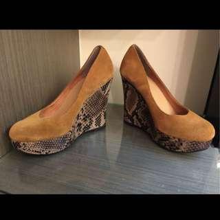 Misssofi麂皮高跟鞋