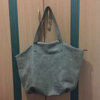 LIKE NEW cotton on shopper bag warna olive/ hijau cantee