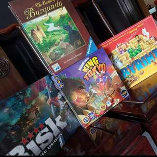 Assorted Board Games And Cards