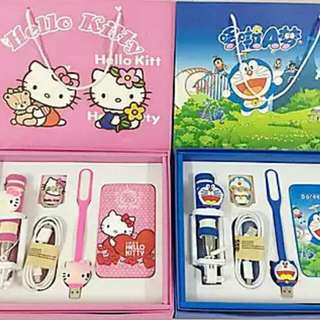 Brand New 12000mAh Hello Kitty Selfie Power Bank USB Charger Set Fan Ring iPhone Android Apple Samsung Xiaomi Huawei LG Mobile Hand phone Battery Sale Cute Pink Sanrio powerbank