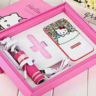 Brand New 12000mAh Hello Kitty Selfie Power Bank USB Charger Set Fan Ring iPhone Android Apple Samsung Xiaomi Huawei LG Mobile Hand phone Battery Acer Stick Sale Cute Pink Sanrio