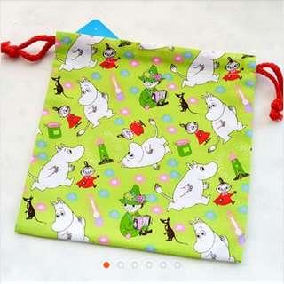 """""""出清"""" 原價100 日本 Moomin 束口袋"""