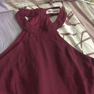 Shop Sassy Dream Halter neck romper dress