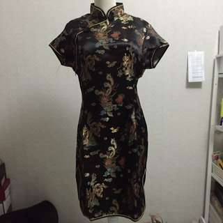 New From Beijing Black Cheongsam