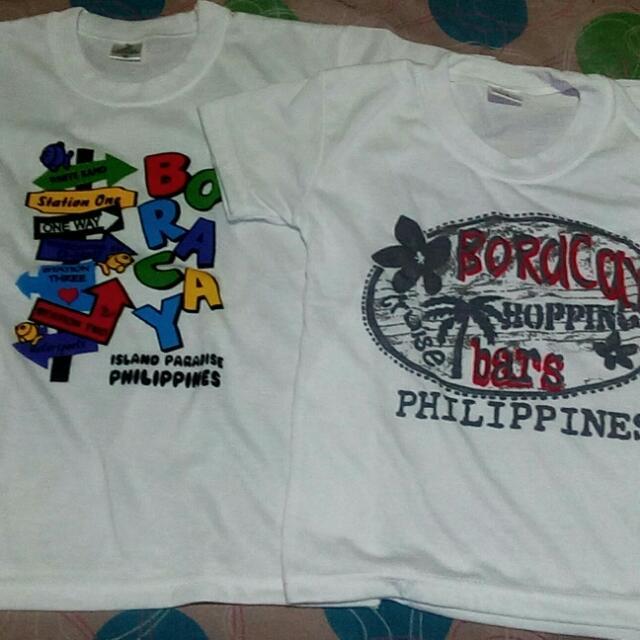 2 For 50php Boracay Souvenir TShirt