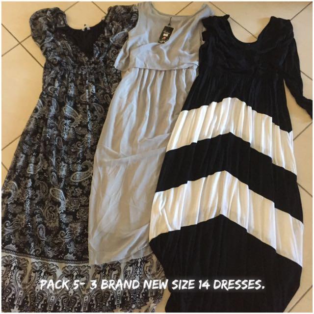 3x Size 14-16 Ladies Dresses. Never Worn