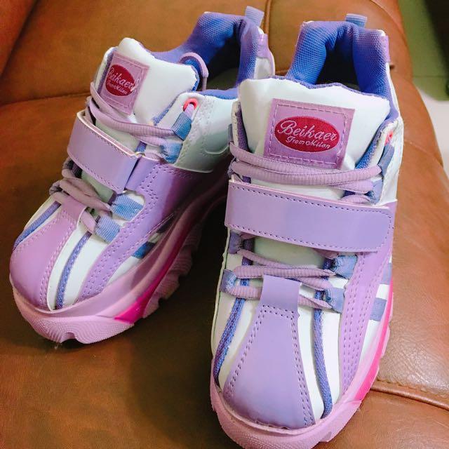 粉紅厚底鞋💕