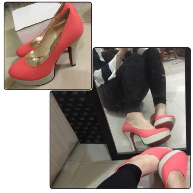 橘紅高跟鞋