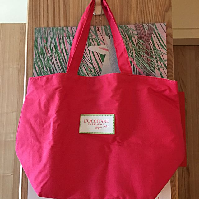 🌺歐舒丹牡丹紅購物布包🌺