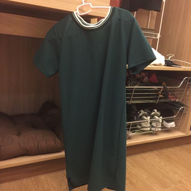 綠色長板上衣