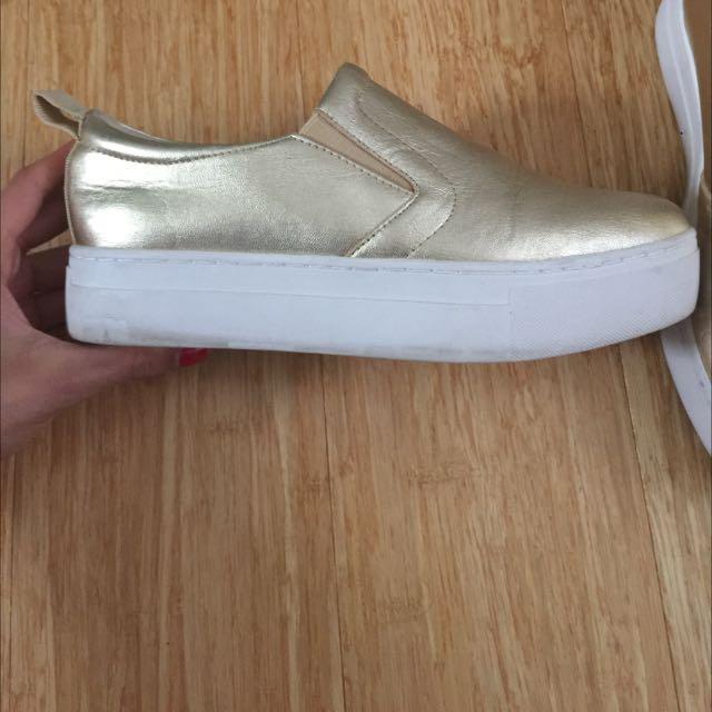 ALDO gold Platform Sneakers