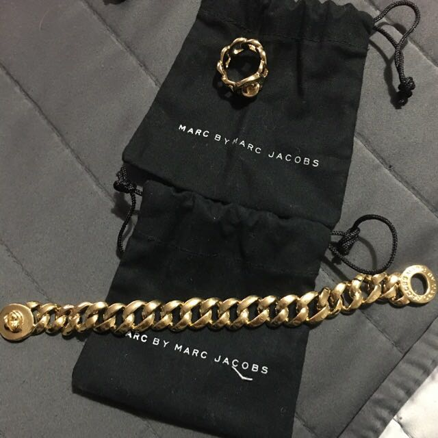 Authentic Marc Jacobs Ring And Bracelet