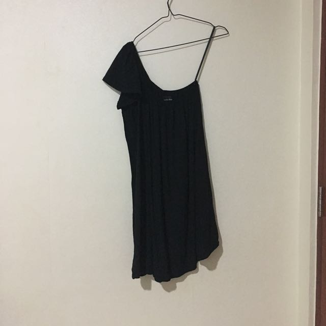 FREE ONGKIR Bamboo Blonde One Shoulder Dress