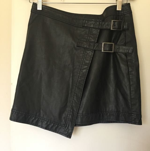Bardot Leather Skirt