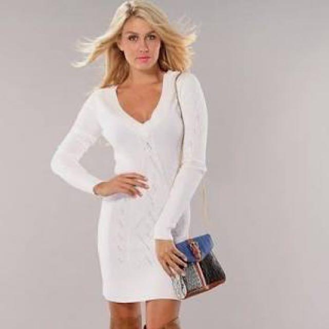 Bebe Long Sleeve Dress